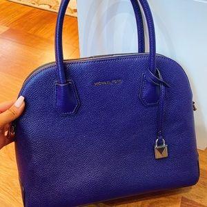 Michael Kors purple satchel bag